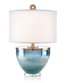 Islamorada Blue Glass Table Lamp